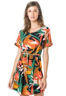 Buntes Sommerkleid mit kurzen Ärmeln - KAFTAN AJUSTE ROLOTÊ