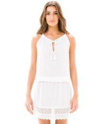 Short white see-through beach dress - RENDA WHITE