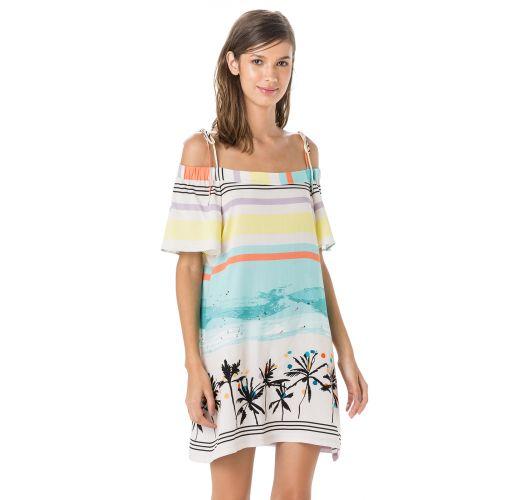 Vestiti da spiaggia scollo Bardot - tropicale vintage - VESTIDO DRONE