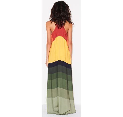 Farbenfrohes langes Luxus-Strandkleid - SAIDA JAMAICA