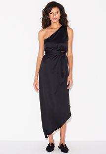 Asymmetrisches gegürtetes Luxus-Kleid - SAIDA TRYIA PRETO