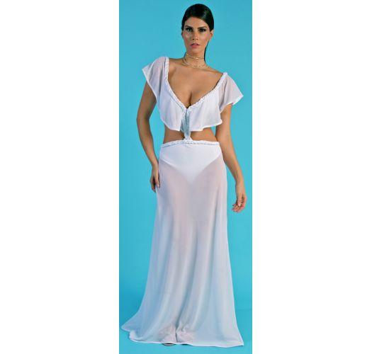 b3fe53d29a White Beach Set: Top And Long Skirt - Conjunto Saia + Body TranÇa ...