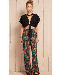 Crop-top/trouser trompe l'oeil playsuit - ACORES
