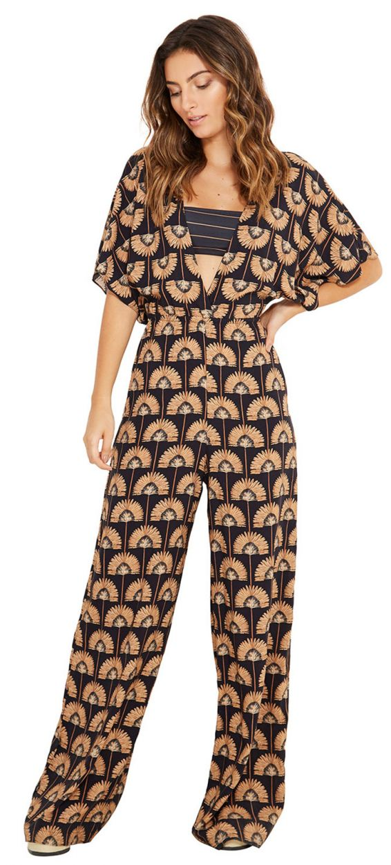 Bicolor playsuit with striped band - MACACO IZLA IMPERIAL ET CAICARA