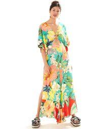 Combinaison de plage à grosses fleurs colorées - MACACAO MAXI FILIPINAS