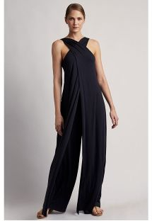 MESH JUMPSUIT BLACK