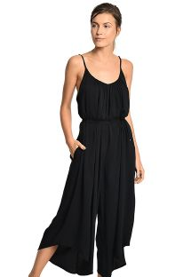 Loose-fitting black jumpsuit cinched in at the waist - ZOADIC