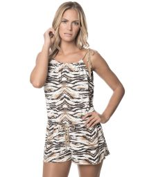 Sleeveless animal-print playsuit - SAVANNAH ROMPER