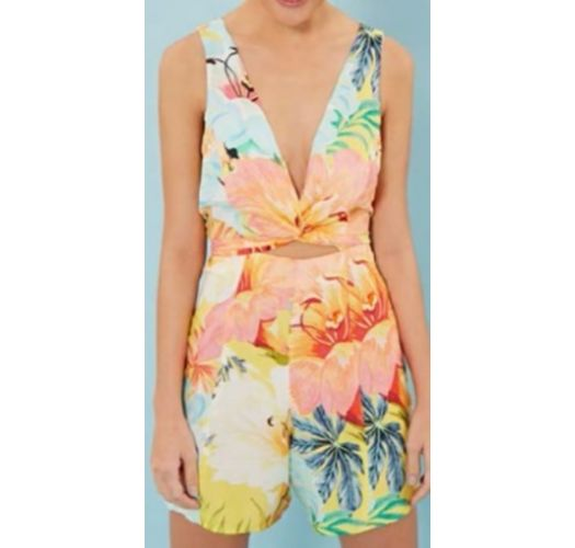 Sleeveless tropical pastel print playsuit - MACAQUINHO MAXI FILIPINAS
