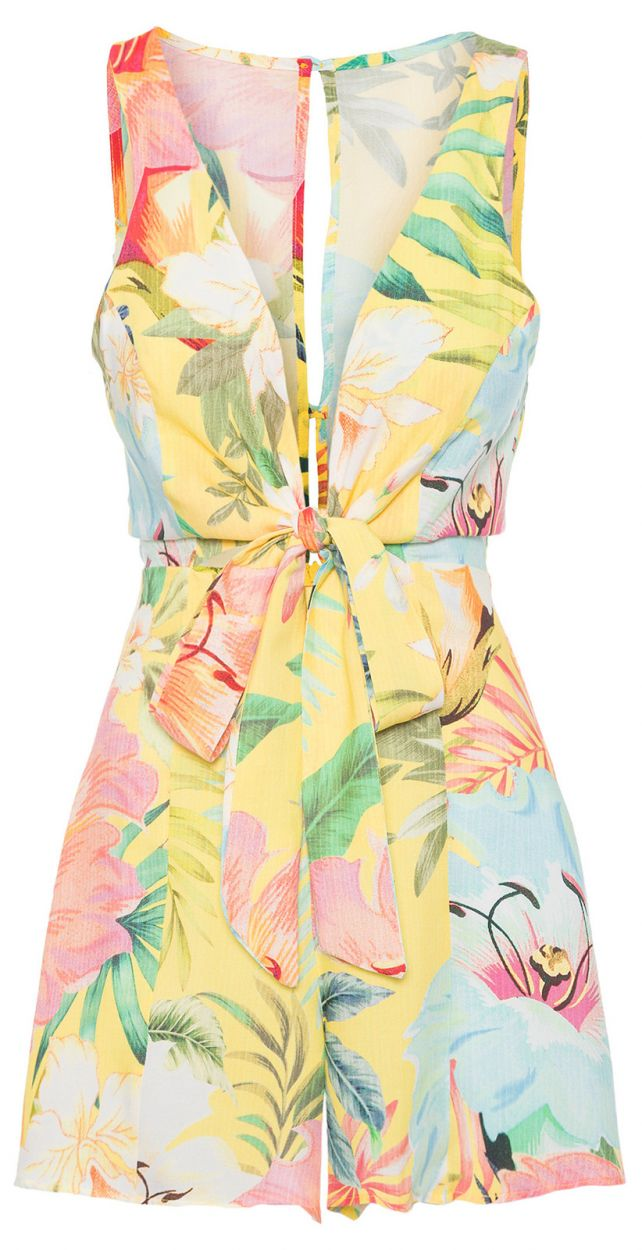 Ärmlös, tropisk pastellfärgad dress - MACAQUINHO MAXI FILIPINAS