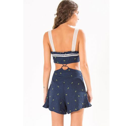 Navy blue beach playsuit - MACAQUINHO PALMERINA