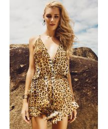 Animal print playsuit, strappy back - ILHAS BALEARES