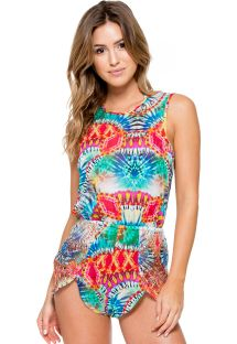 Multicoloured tie-dye open back rompersuit - ENCANTADORA ROMPER
