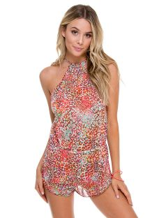 Lightweight animal beach romper, open back - UNTAMEABLE ROMPER