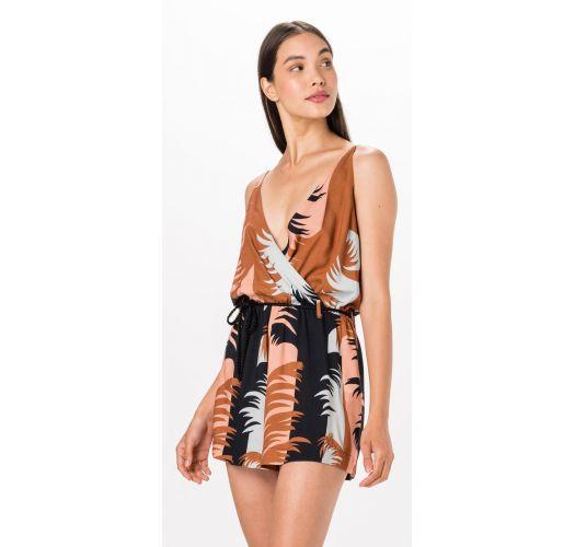 Tropical print V neck jumpsuit - MACAQUINHO MAMBO