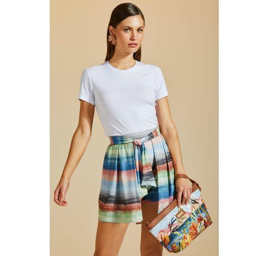 Colorful beach shorts - skirt style - SHORT SAIA IMPRESSIONISMO