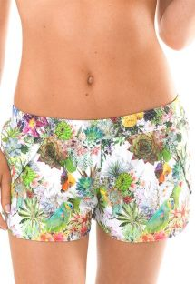 Tropical floral beach shorts - GARDEN REMO
