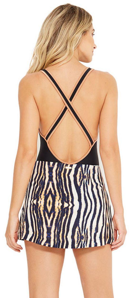 Zebra print beach shorts - MALVINAS ZEBRADO