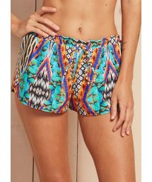 Colourful mixed print beach shorts - SHORT IPANEMA