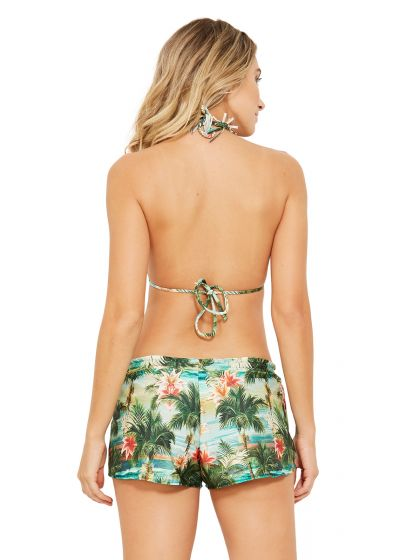 Bunte Beach-Shorts, Tropical Print - SHORT ISLA