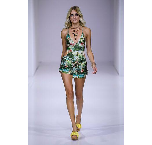 Bunte Beach-Shorts, Tropical Print - SHORT ISLA