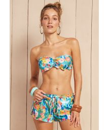 Colourful tropical flower beach shorts - SHORT LUZ DO CAIS
