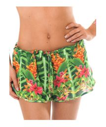 Green tropical print beach shorts - SHORT TAPAJO PASSARELA