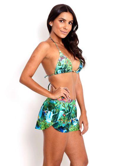Paradise landscapeprint beach shorts - SHORT TEQUILA