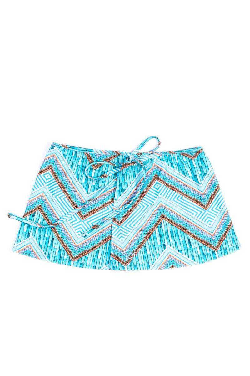 Light blue geometric-print beachshorts - SHORT ZEUS