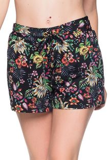 Sorte/blomstrede strandshorts - BOTTOM BABADO DREAM