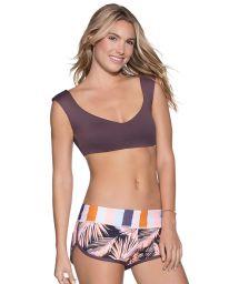 Stripe/palm-print mini beach shorts - PALMAR PALMER