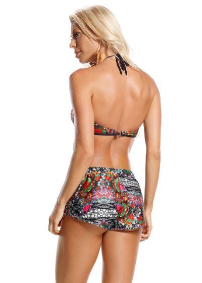 Printed beach shorts with elastic waistband - SHORT TRIBOS