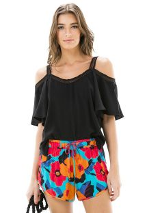 Colourful large flower beach shorts - SHORT FLORAL