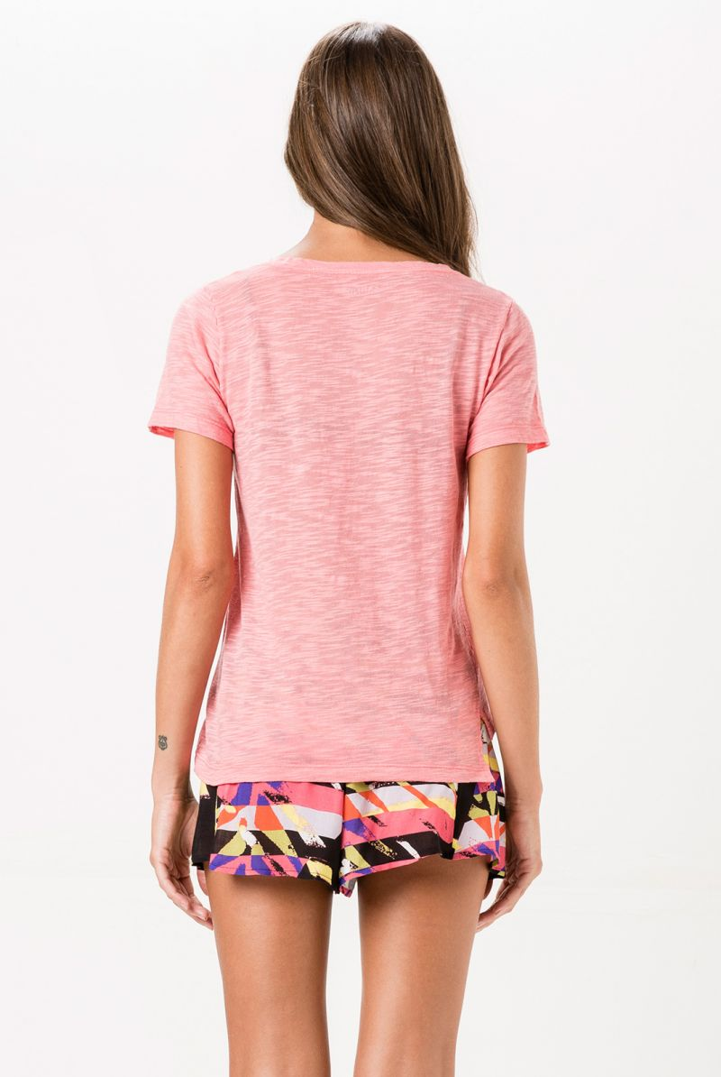 Print beach shorts with tie waist - SHORT QUEBEC