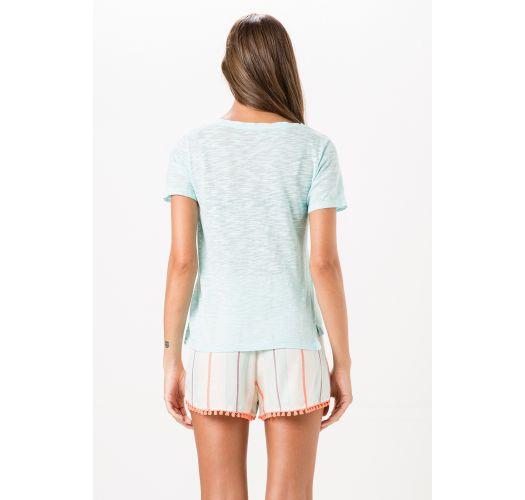 Beach shorts withorange pompoms and stripes - SHORT YORK