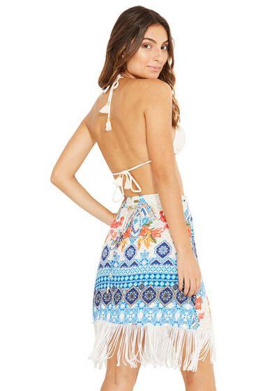 Färggrann, etnisk kjol med fransar - NAIMA TALASSA