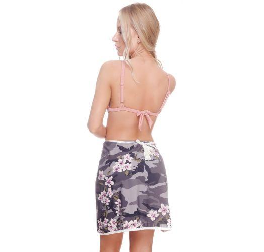 Minissaia envelope camuflado/flores, luxo - MINI SKIRT CAMO