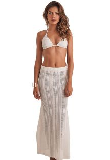 Falda larga  de playa calada - SKIRT RENDA