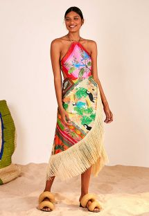 MIX SCARFS SUMMER WRAP SKIRT