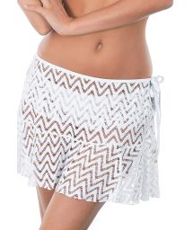 White lace beach skirt which can be tied - SAIA RENDA