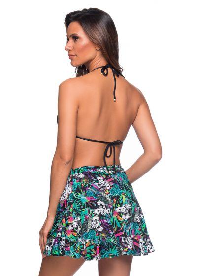 Flerfärgat blommönstrad kort kjol i omlottmodell - TRANSPASSADA ATALAIA
