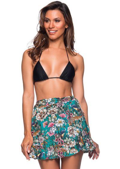 Beach skirt in green floral print - TRANSPASSADA TROPICAL GARDEN