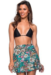 Beach skirt in green floral print - TRANSPASSADA TROPICAL GARDEN