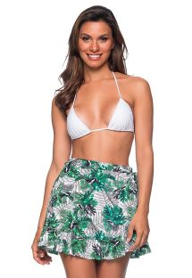 Green foliage short wallet skirt - TRANSPASSADA VIUVINHA