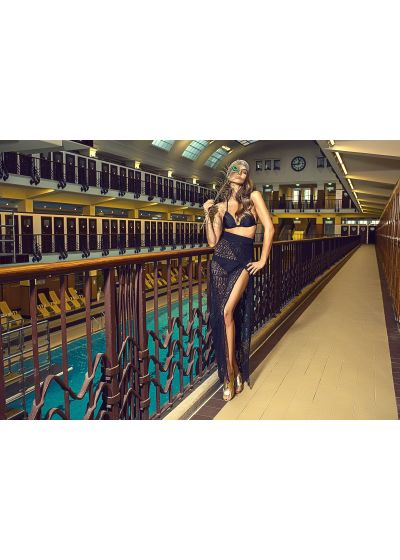 Black lace beach skirt - SAIA PAREO