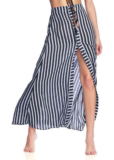 Knäppt strandkjol med vertikala ränder - EXPERIENCE EVERYDAY