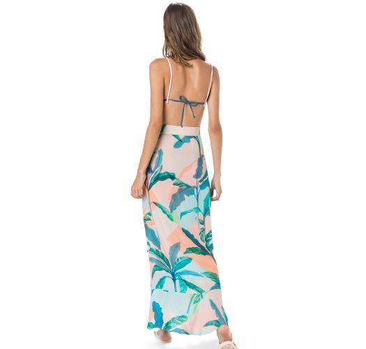 Long beach skirt in tropical pastel print - SAIA ESTAMPA