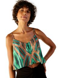 Green tropical light beach top - BLUSA NEW ALCINHA TAI