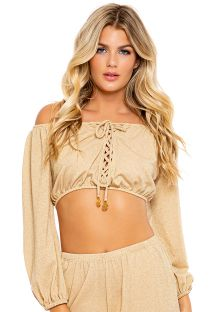 TOP ALLURE CROP GOLDEN RUSH
