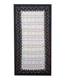 Reversible velvet towel/coloured pareo - MAGIC CARPET FLORAL